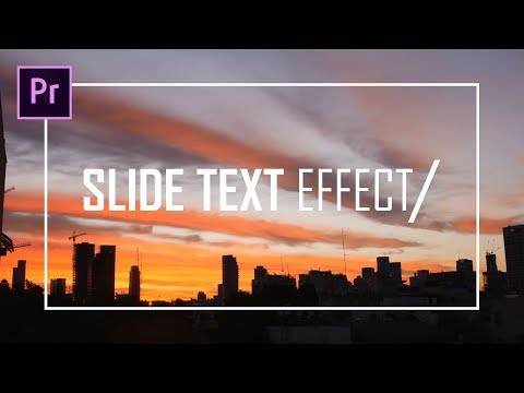 Slide Text Effect