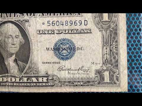 One Dollar Bill Series 1935E Star Note