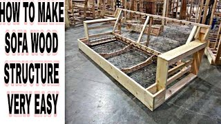 #wood #structure #sofa How to make sofa wood structure straight design