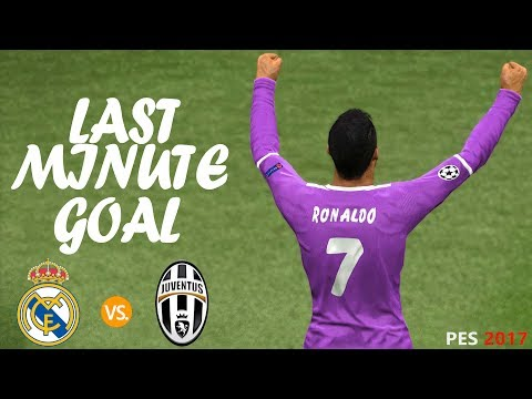 Real Madrid vs Juventus | UCL Final | C. Ronaldo's goal in last minute saved MADRID | PES 2017
