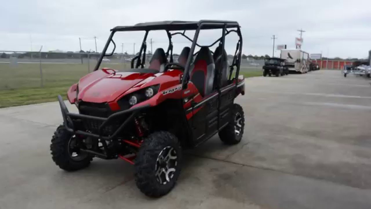 sale $14,499: 2016 kawasaki teryx4 le candy persimmon red overview