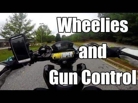 wheelies and gun control on the honda grom