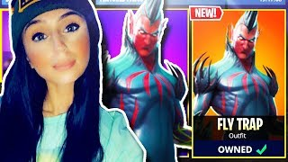 "NEW ""FLY TRAP"" SKIN IN FORTNITE BATTLE ROYALE!!! GIRL FORTNITE PLAYER PS4 LIVE GAMEPLAY!!!"