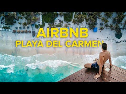 ¿Dónde hospedarse en PLAYA DEL CARMEN?🌴🏠 AIRBNB TOUR 🔴 ¿Cuánto cuesta?