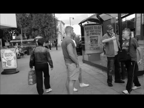 Drunken Mongoloid in Stockport Shouting Abuse Outside Asda and Sainsbury's 5/9/12