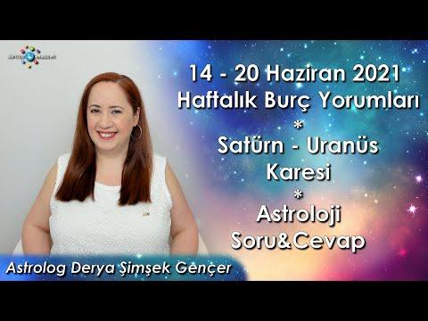 14-20 Haziran 2021 Haftalık Burç Yorumları, Satürn-Uranüs Karesi ve Astroloji Soru&Cevap