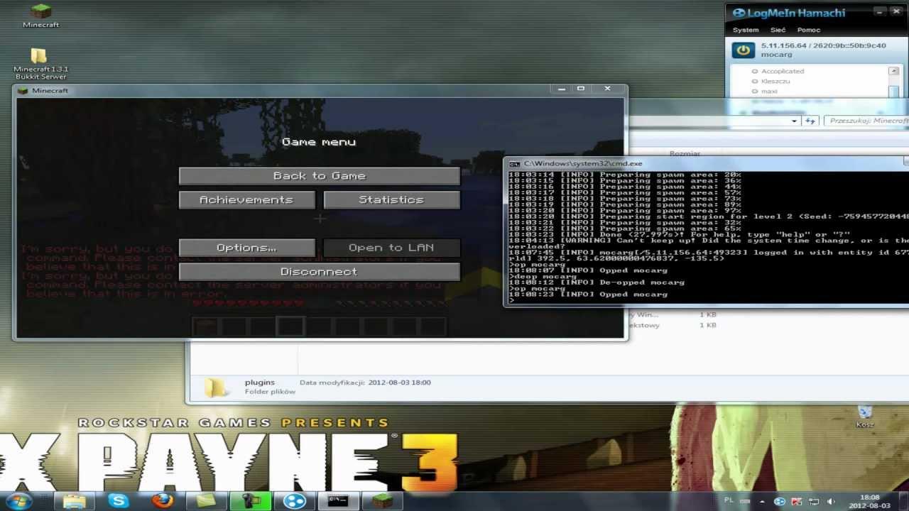 gotowy serwer minecraft bukkit 1.3.1