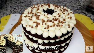Kalıp Yok✔ Fırın Yok✔ En Basit Yaş Pasta Tarifi /Yaş Pasta Tarifleri /Hacereli