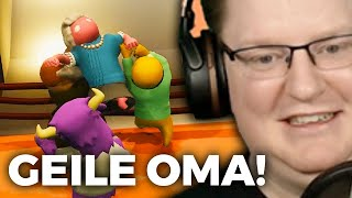 MILKA KUH vs. OMA in Gang Beasts!