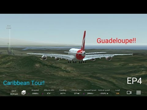Infinite flight | (Caribbean Tour) | Antigua - Guadeloupe | Airbus a380-800  |