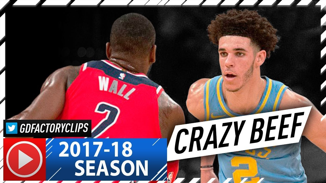97550dd1e81 Lonzo Ball vs John Wall CRAZY PG Duel Highlights (2017.10.25) Lakers vs  Wizards - MUST SEE!