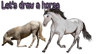 #Drawing HD #coloring How to draw a horse