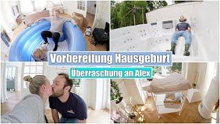 Vorbereitung Wassergeburt 👶🏼 Geburtspool aufbauen & Überraschung | 38 SSW | Isabeau