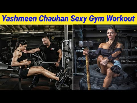 Yashmeen Chauhan Sexy Gym Workout & Exercise