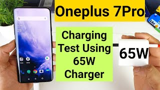 Oneplus 7pro 65w warp charging support test will it charge faster