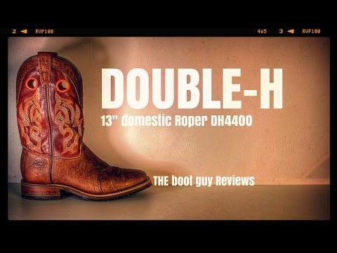 ca1ba44ac21 DOUBLE H BOOTS Square Toe Roper DH4400 [ THE BOOT GUY REVIEWS ]