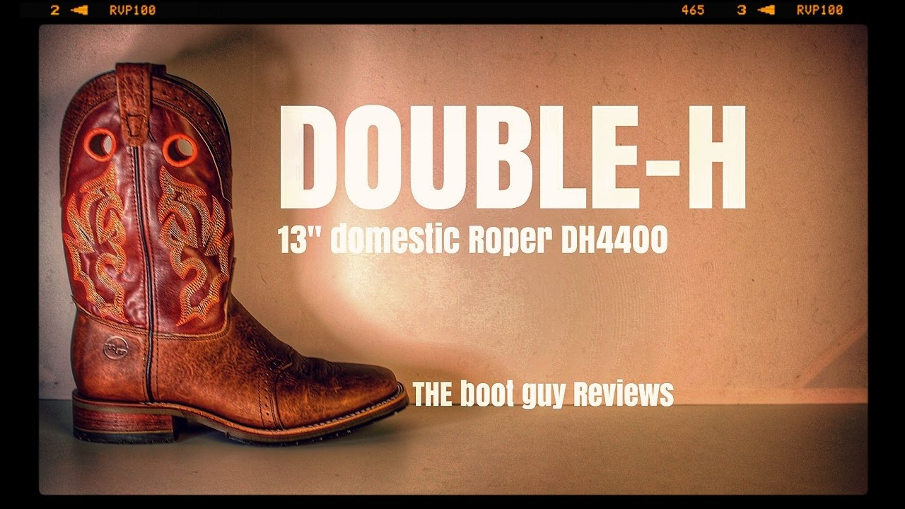 b243b6ed5b6 DOUBLE H BOOTS Square Toe Roper DH4400 [ THE BOOT GUY REVIEWS ]