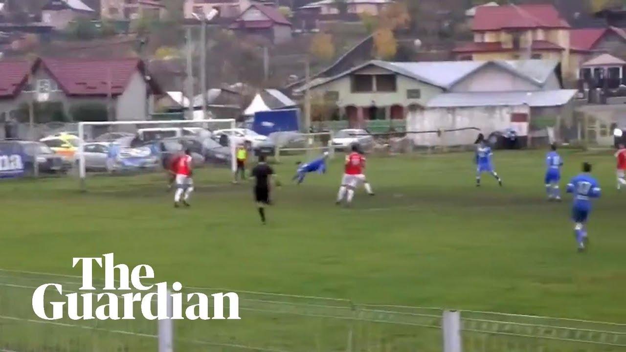 Scorpion kick: Romanian footballer scores amazing goal
