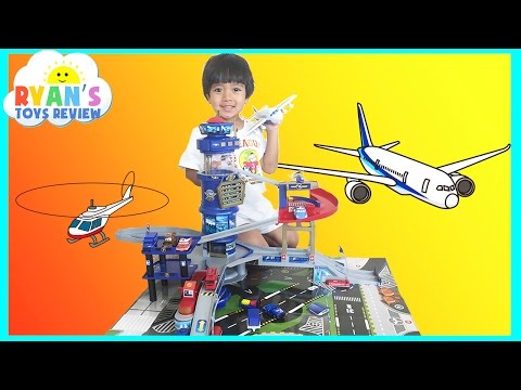 Thumbnail: Fast Lane Multi Level Airport Playset Disney Cars Toys for kids Lightning McQueen Ryan ToysReview