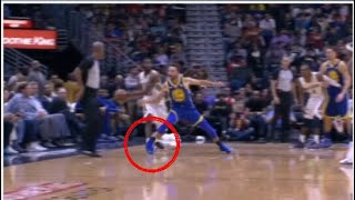 Steph Curry Ankle Injury December 4, 2017 vs New Orleans Pelicans