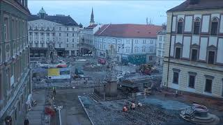 Brno oprava Zelného trhu - pár hodin za 3 minuty - 2.2015