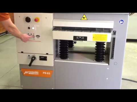 Thicknessing planer PS 63 video
