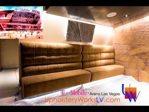 Las Vegas T-Mobile Arena Bunker Suites Project | Upholstery Works | 4k