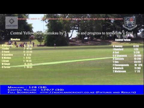 District Tournament Yr 7 Boys: SEMI FINAL - Manukau v Central Yellow