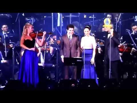 Andrea Bocelli e Daniel - Con Te Partiro - Santuario de Aparecida - Brasil - 15/10/2016