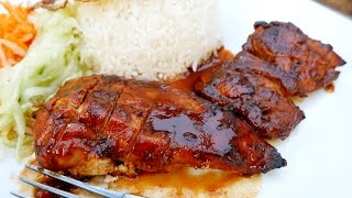 oven baked bbq chicken homemade barbecue sauce asmr treat factory