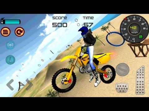 Juego De Motos Para Niños | Motocross Beach Jumping
