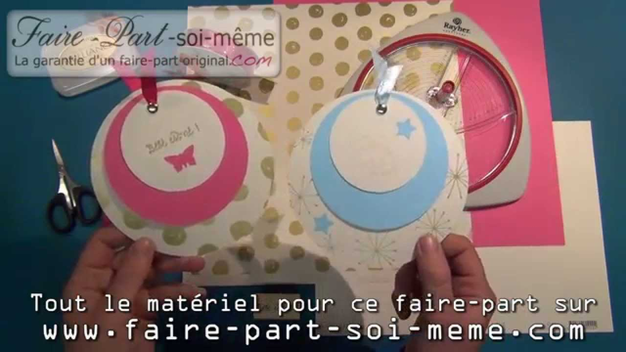 Faire part de naissance rond papillon youtube - Faire son ilot central soi meme ...