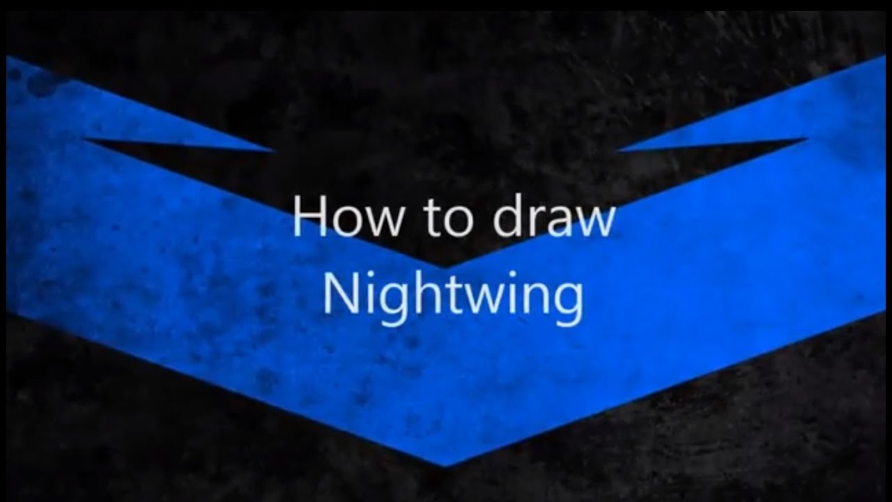 How to draw Nightwing - YouTube
