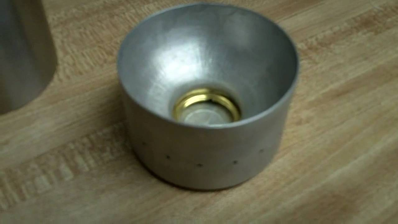 Dollar store alcohol stove youtube for How to make a stove