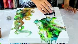Chain Pull Dutch Pour Painting - Too Much Or Just Enough? ~ Acrylic Pouring ~ Flow Art
