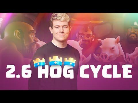 2.6 HOG CYCLE GAMEPLAY! BEST HOG DECK EVER - Clash Royale