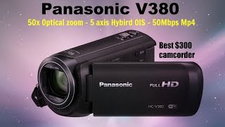 panasonic HC-V380 preview - Whats new against the V270 - Best 300 camcorder