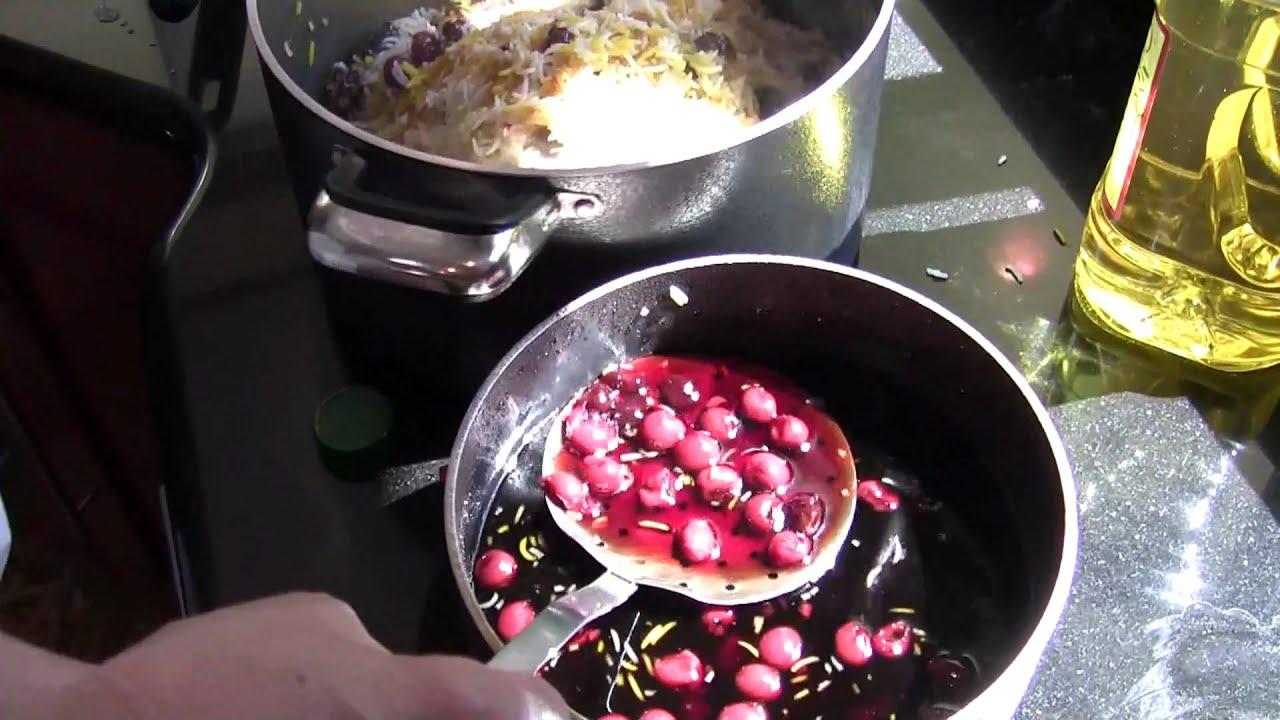 How to cook albaloo polo persian sour cherry rice part 1 youtube forumfinder Images