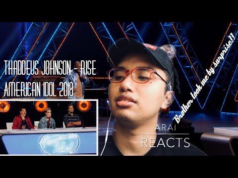 "Thaddeus Johnson Sings ""Rise"" By Katy Perry American Idol 2018 REACTION"