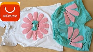 Детская одежда с Aliexpress / симпатичный комплект для девочек /  Распаковка и Обзор