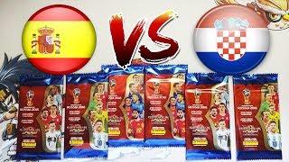 Simulación de partido ESPAÑA vs CROACIA amistoso - Adrenalyn Panini Rusia 2018