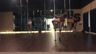 Eyes Closed - Halsey Beginner Pole Dance Routine 6-20-17