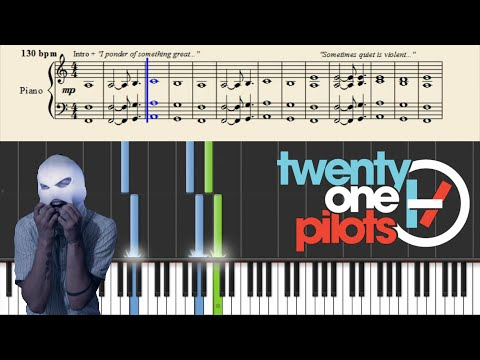 twenty one pilots: Car Radio Easy Piano Tutorial + Sheets