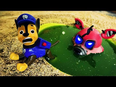 Paw Patrol saw the ghost in the water. Paw Patrol character horror monster.