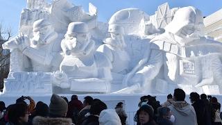 Герои «Звёздных войн» и голова Трампа на фестивале снега в Саппоро (новости)