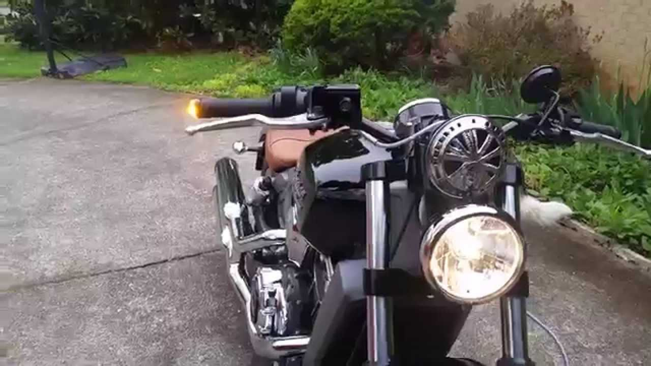 WillRide 2015 Indian Scout with M-Blaze bar end turn ...