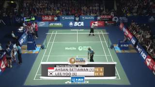 2014 BCA INDONESIA OPEN - F - MD - M AHSAN/H SETIAWAN  [1] (INA) VS LEE Y D/YOO Y S [6] (KOR)
