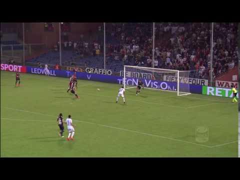 Il palo di Giannetti - Genoa - Cagliari - 3 - 1 - Giornata 1 - Serie A TIM 2016/17