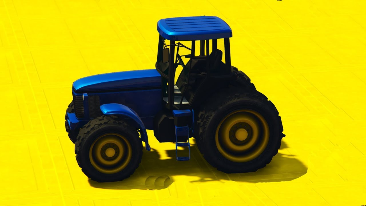 Мультики про Синий Трактор и цветные машинки #песенки для ...