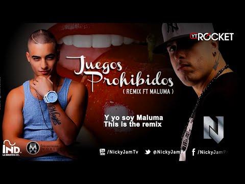 Nicky Jam - Juegos Prohibidos ( remix ft Maluma ) Oficial Con Letra @NickyJamPr @MalumaColombia